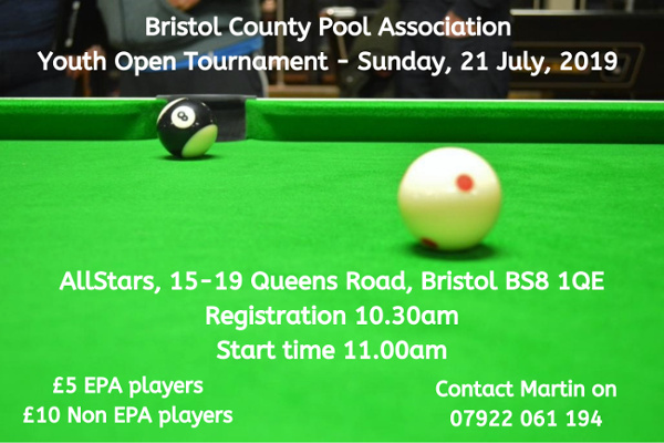 Bristol County Pool Association Youth Open Tournament website